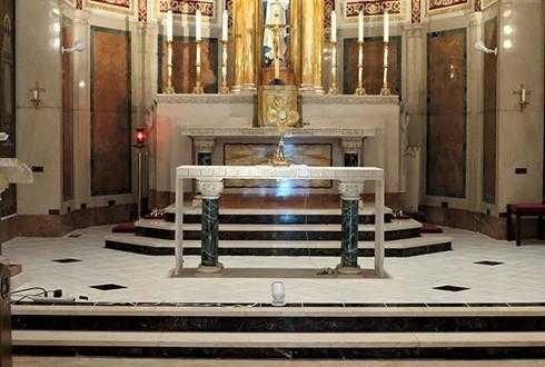 Church Flooring, marble tile flooring, Providence RI