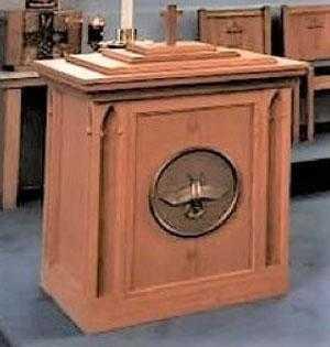 church furniture, chancel furniture, sanctuary furniture, baptismal fonts