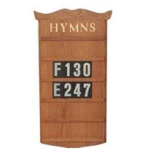 Hymnal Boards, church furniture, church furniture company