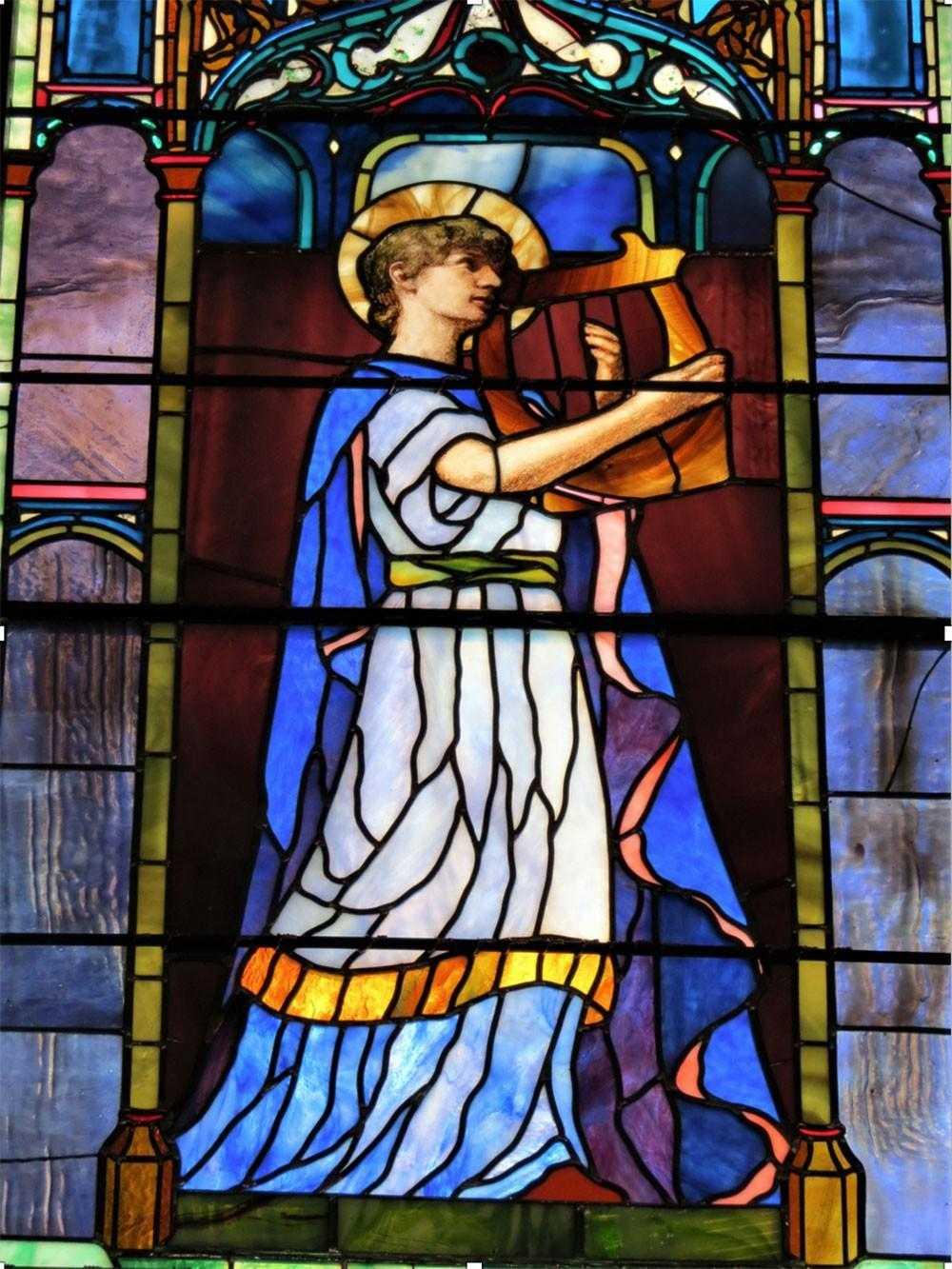LeFarge stained glass window restoration
