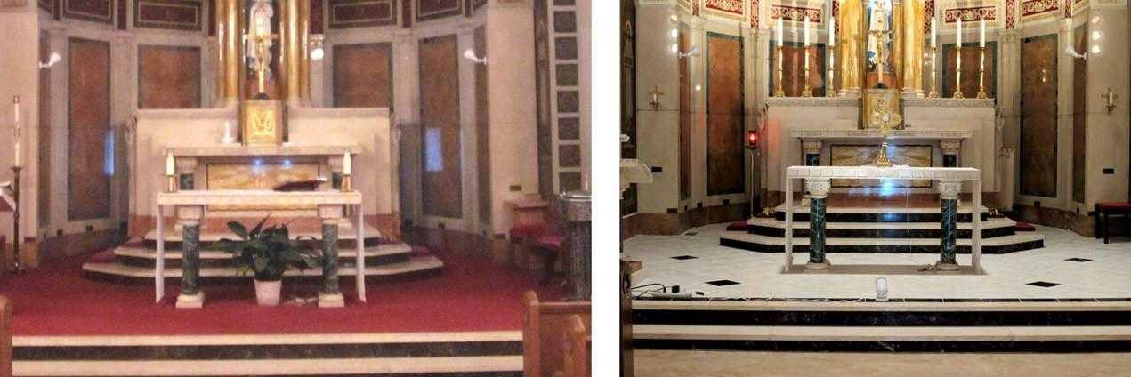 New Marble Tile Church Flooring