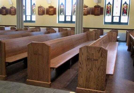 Church Pews for sale, church furniture, church pews near me.