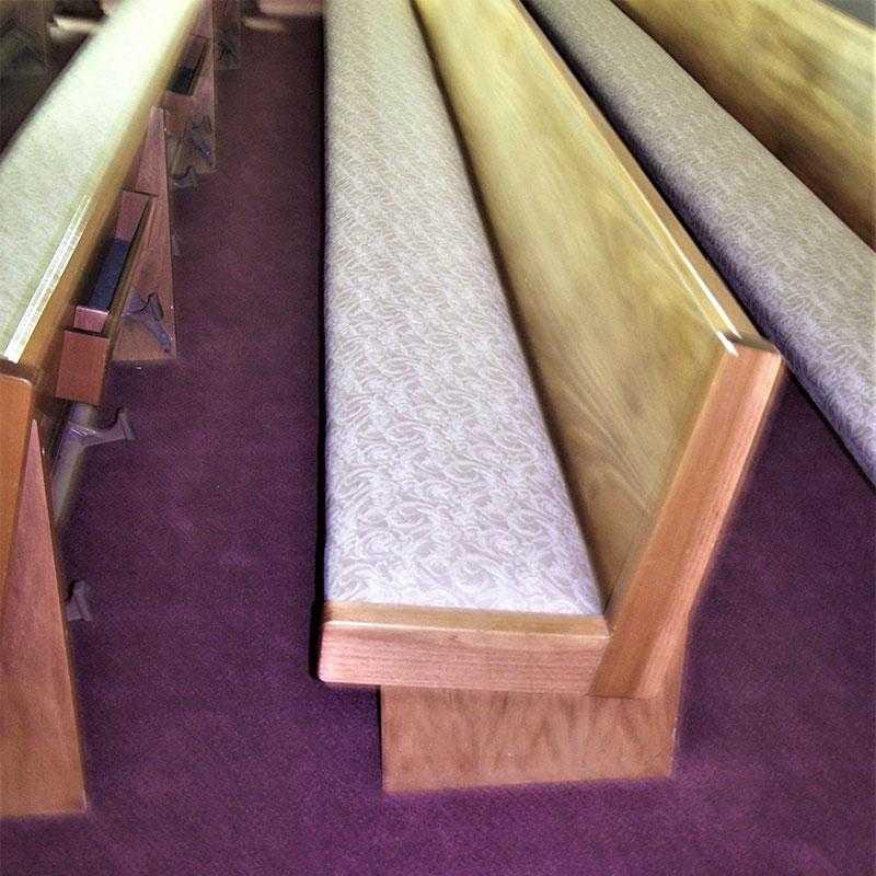 Pew Cushion Repair & Re-upholstery