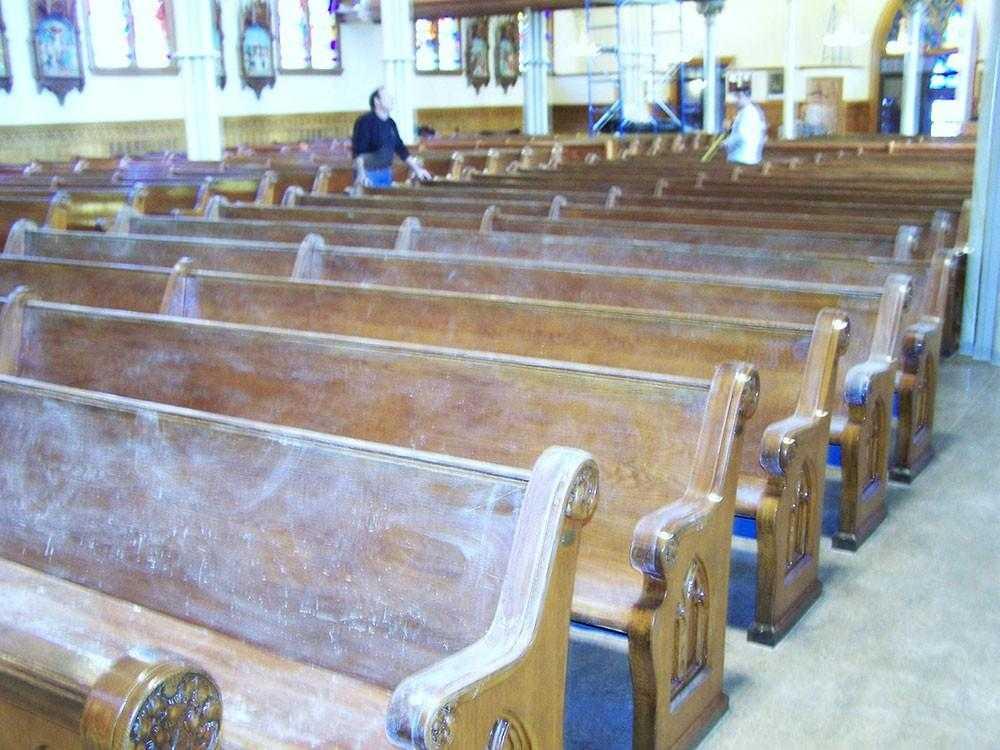 Church Pew Refinishing - New York, Rhode Island