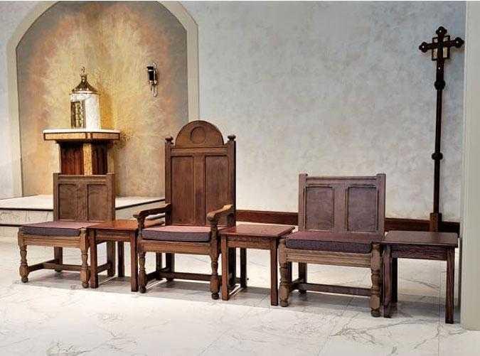 church furniture, chancel furniture, sanctuary furniture, Presider Chairs