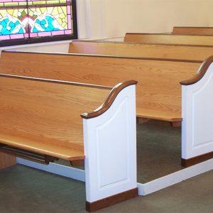 Solid Wood Church Pews