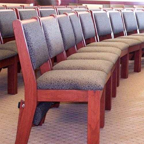 Stacking Wood Chairs for Churches