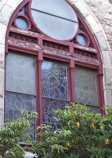 stained glasswindow frame repair