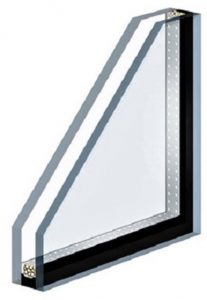 Double paned protective covering glass