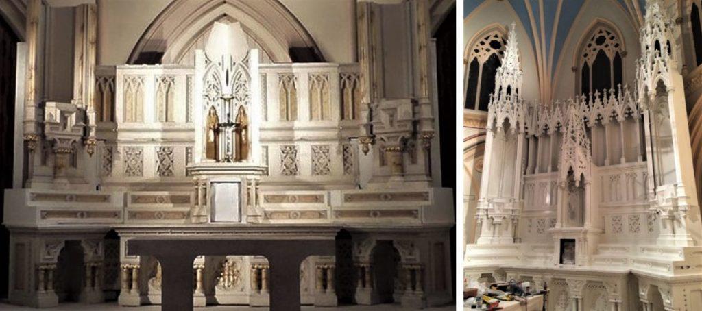 wood altar repair and restoration