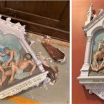 Stations of the Cross repair, stations of the cross painting, Pawcatuck CT