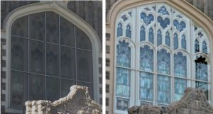 Stained glass window frame repair, church stained glass windows, New London CT