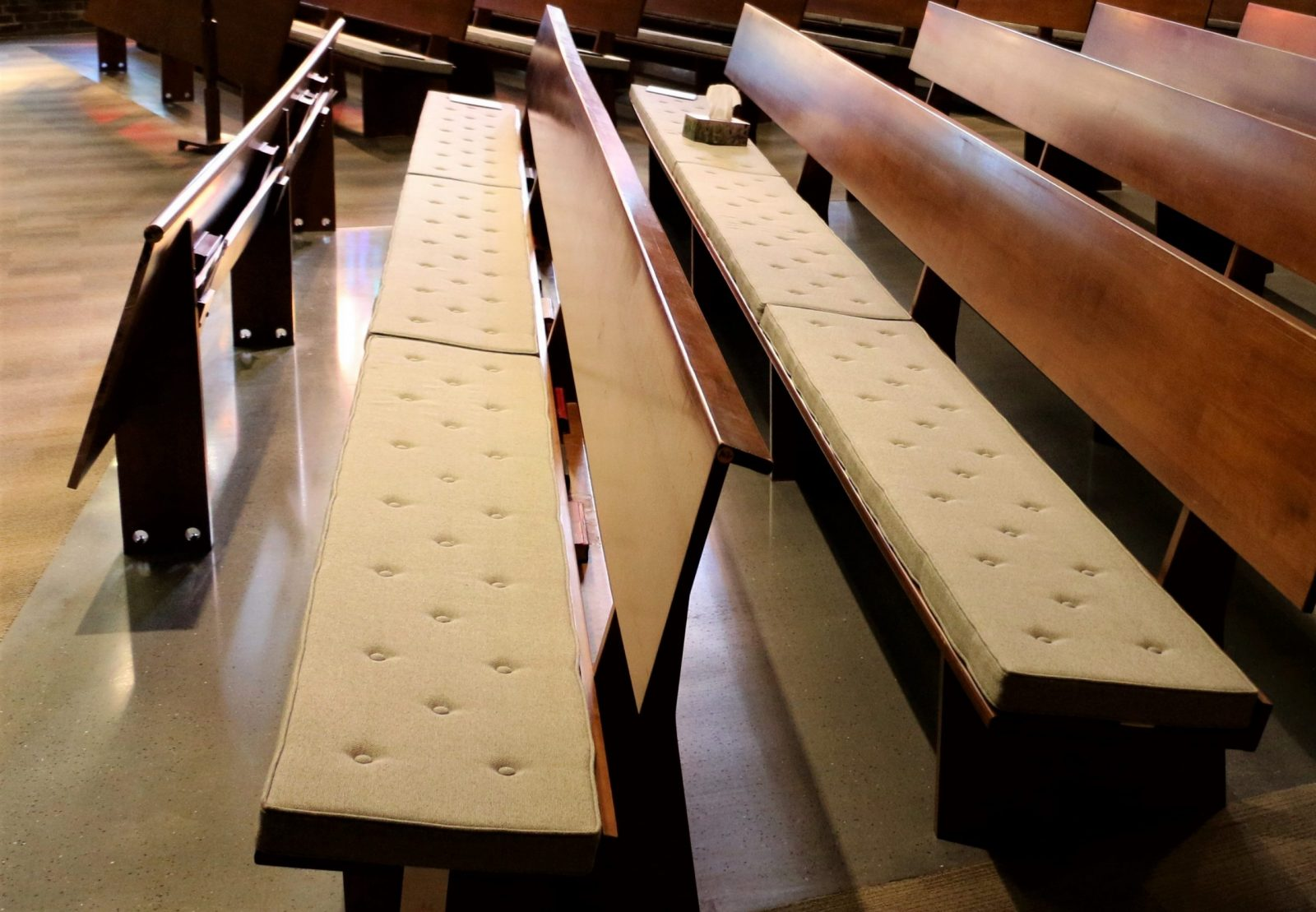 reversible church pew cushions