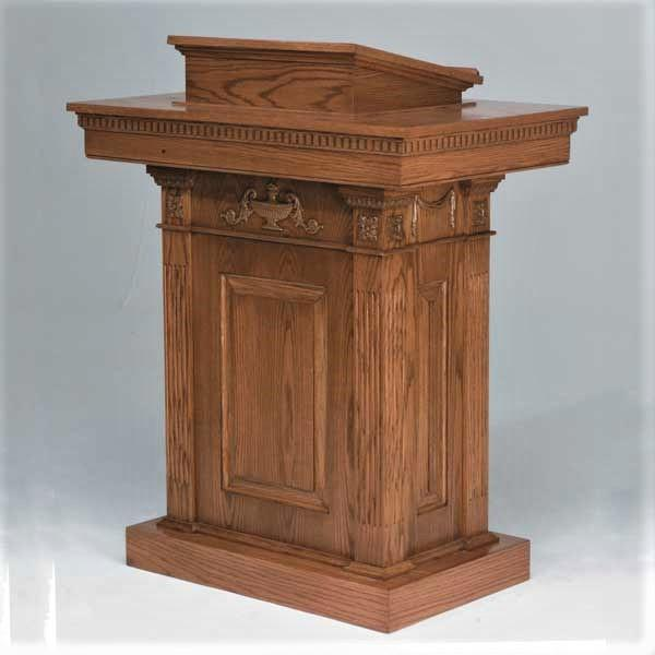 Pulpit 8201 in stained finish 1