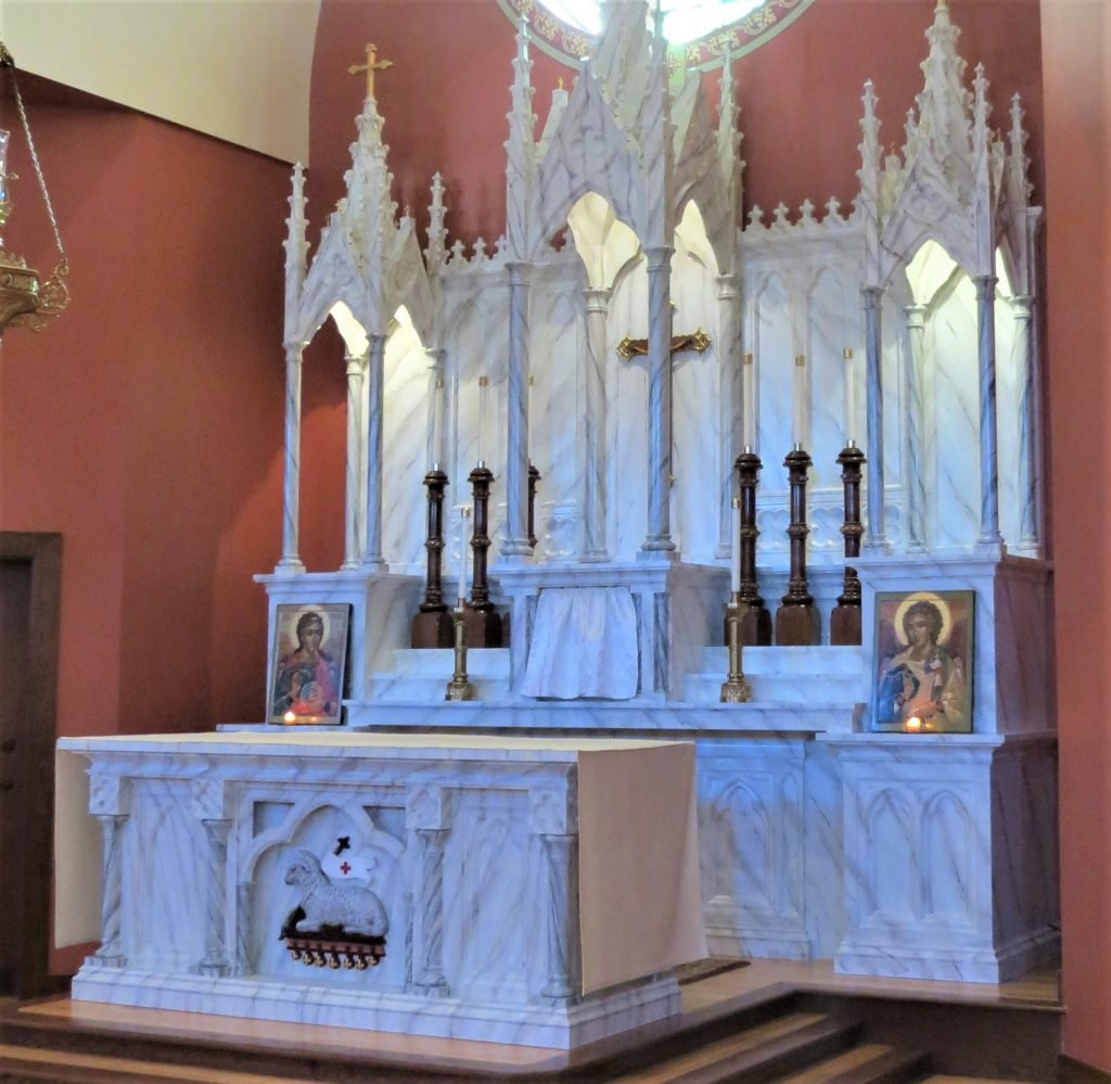 faux marble painting, church painting, church renovations, Pawcatuck CT