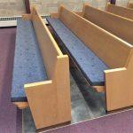 pew cushions, church pew cushons, pew pads, church pew pads, Ithaca NY