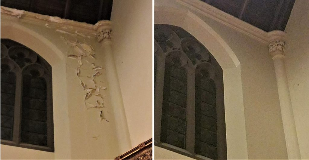 plaster repair| church painting| church painting contractor| Rhode Island painter|