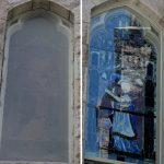 John LeFarge Stained Glass  protective coverings for stained glass  hurricane code protective coverings  John LeFarge preservation, East Greeenwich RI