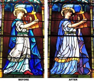 John LeFarge stained glass, LeFarge stained glass repair, LeFarge stained glass restoration, East Greenwich RI
