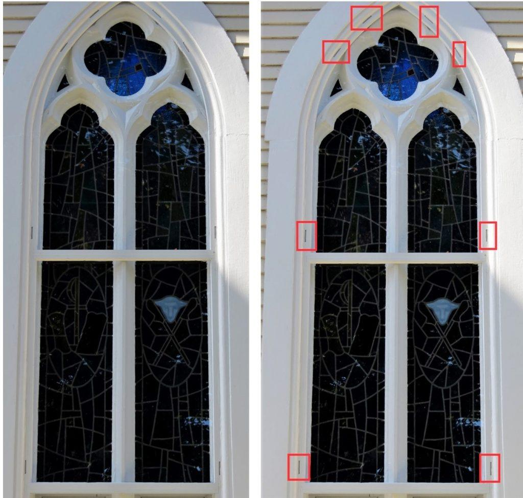 stained glass, stained glass protective coverings, stained glass protective glass