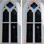 church stained glass windows, stained glass protective coverings, stained glass protective glass, Cumberland RI