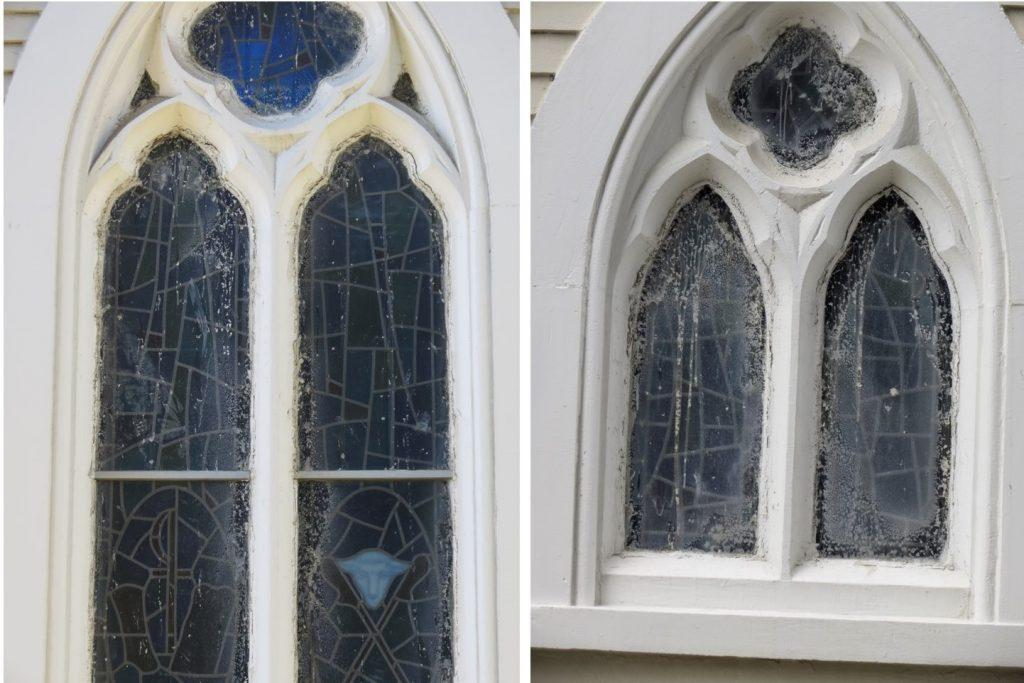 stained glass repair, stained glass protectie glass, stained glass protective coverings