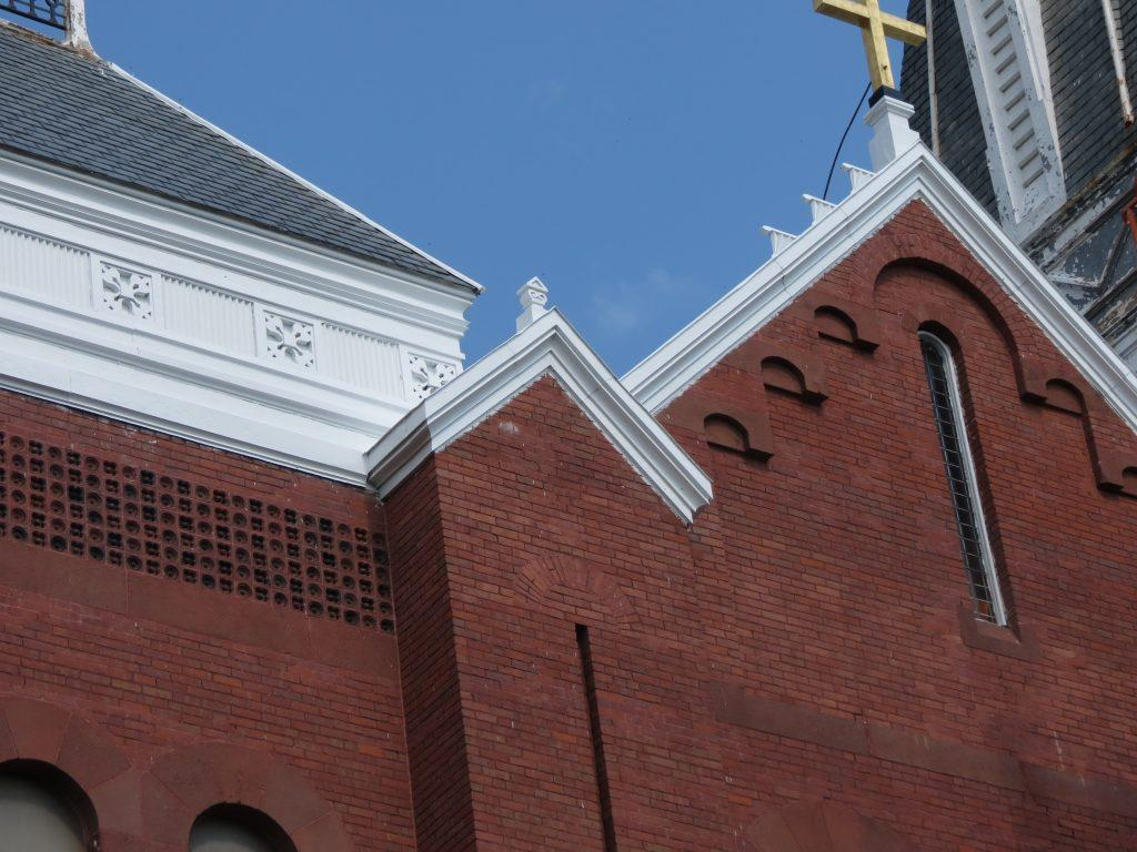exterior painting, church painter, steeple painting, exterior church painting, steeple repairs, Albany NY