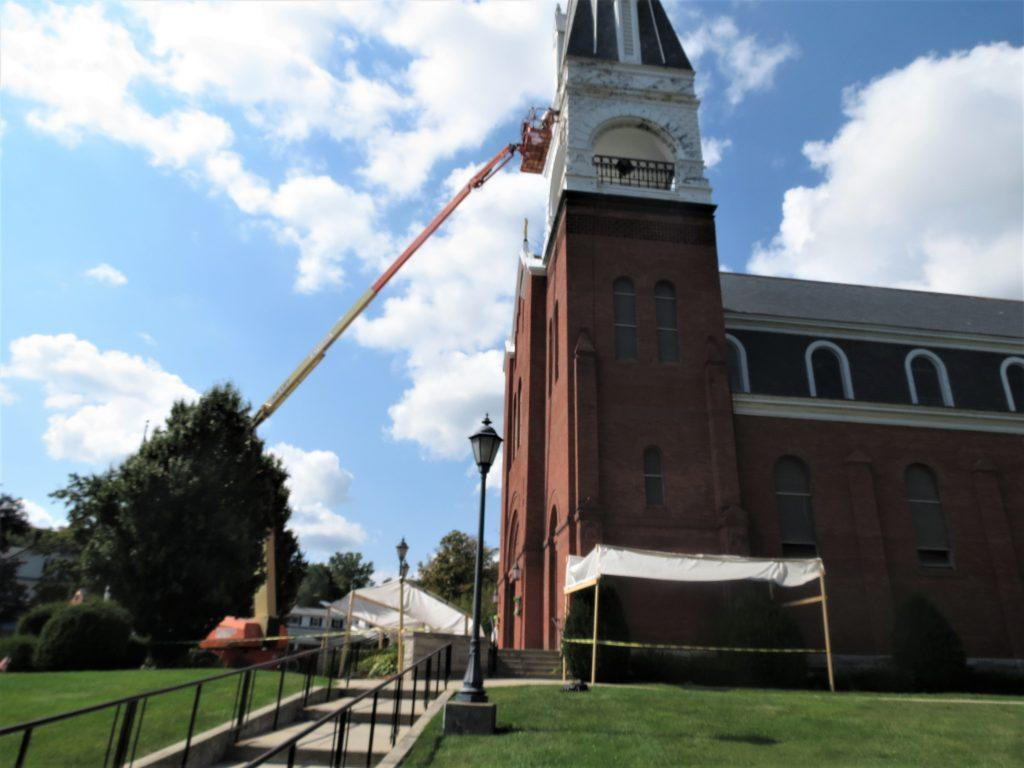 painting, church painter, exterior painting, church painting, steeple repair, Albany NY