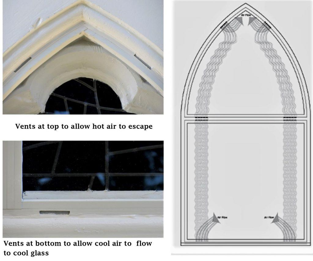 church stained glass window, stained glass repair, stained glass protective glass, stained glass protective coverings