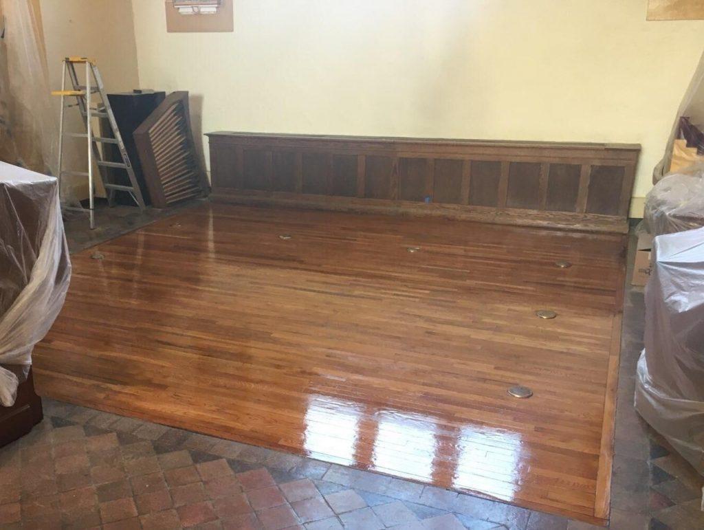 hardwood flooring, church flooring, hardwood floor refiinishing