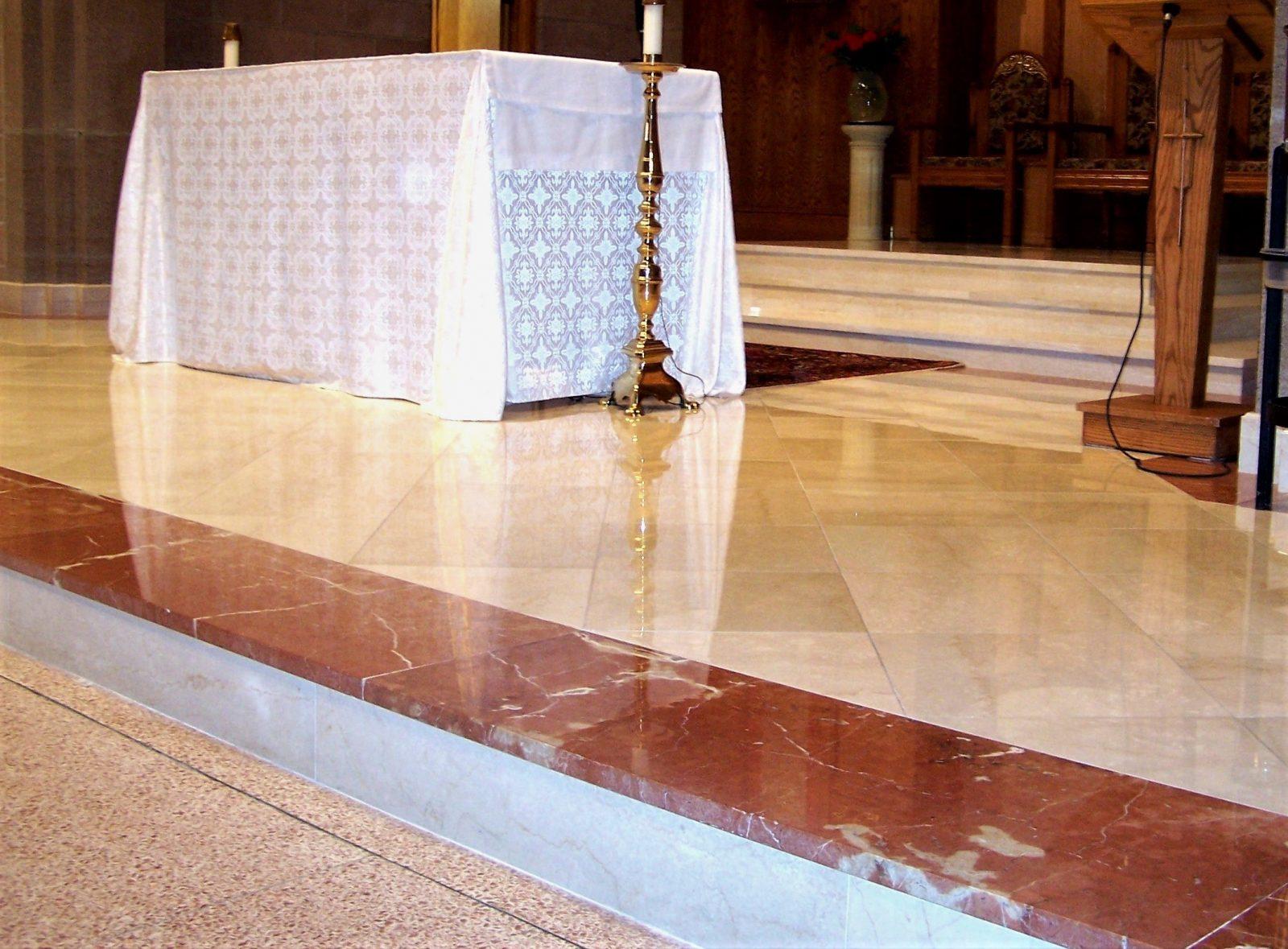 marble flooring, marble tiles, marble sanctuary floor, marble resurfacing