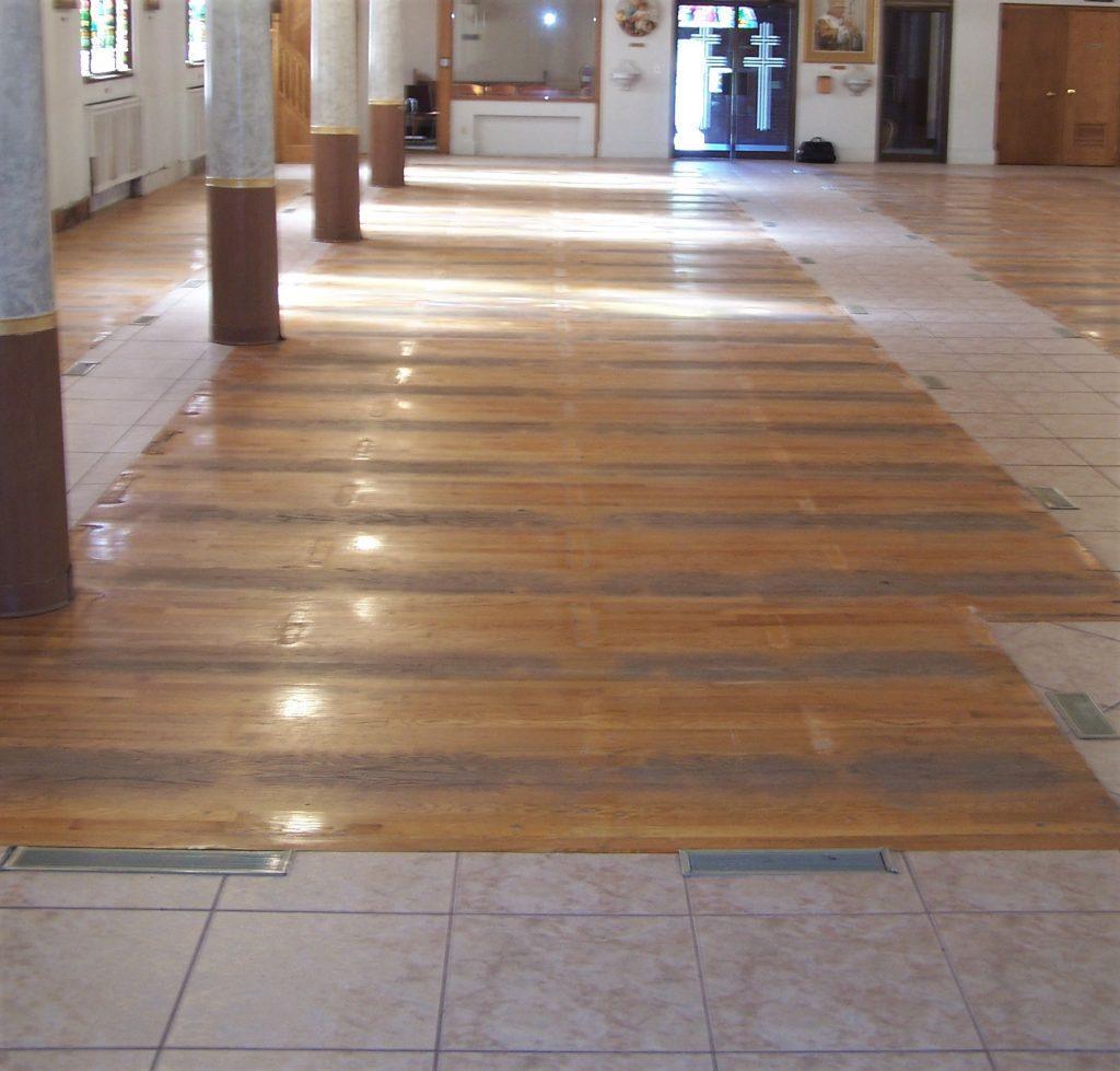 hardwood flooring, oak flooring, hardwood floor, sanctuary flooring, church flooring.
