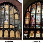 stained glass window repair, church stained glass window restoration, stained glass window frames, Brooklyn NY