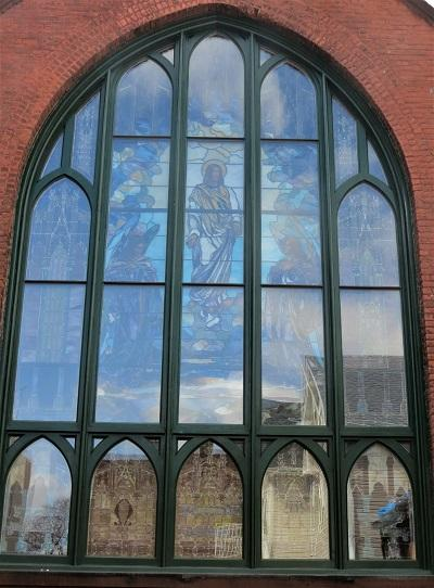 Brooklyn stained glass window frames, nyc stained glass studio, New York stained glass repair