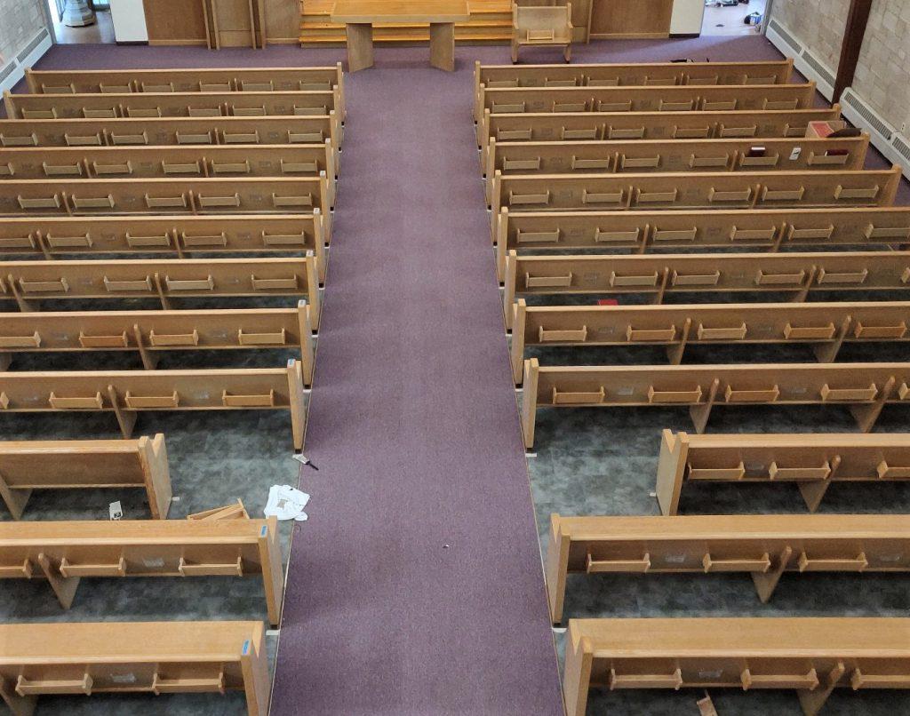 carpets, carpet installation, carpeting, church carpet installation, church flooring.