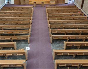church flooring, vinyl tile, carpet installation, Ithaca NY