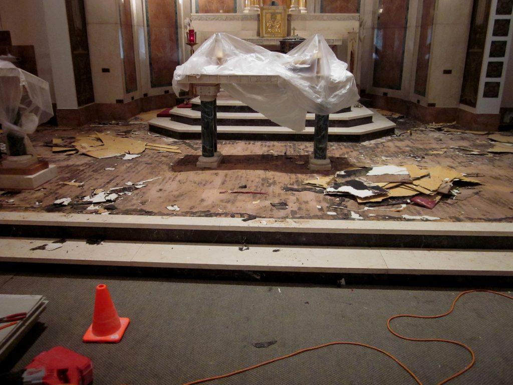 marble flooring, marble tiles, marble sanctuary floor