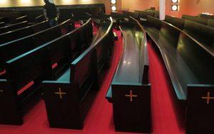 pew repair, pew refinishing, church pews, pew renovation, Cranston RI