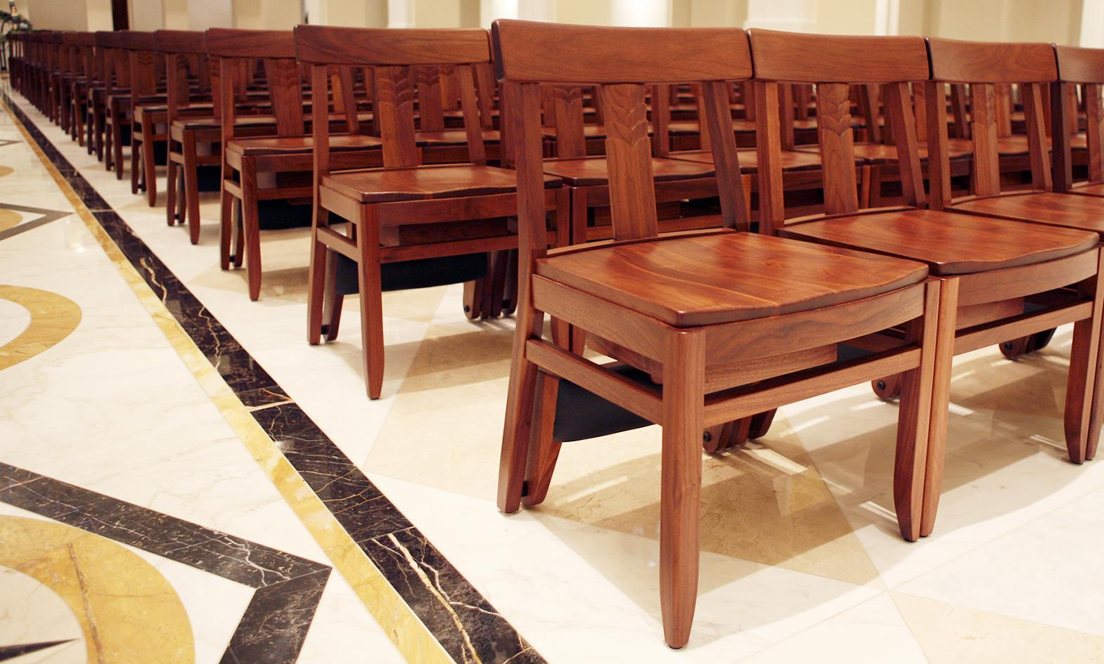 wood chairs, church chairs, stacking wood chairs, chapel chairs