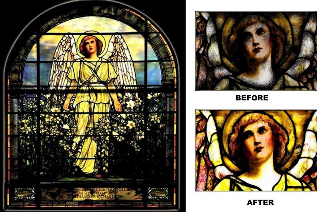 Tiffany stained glass, tiffany stained glass repair, nyc stained glass studio, stained glass window replacement