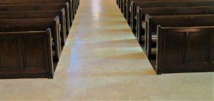 porcelain tile, porcelain tile floor, church flooring, New Bedford MA
