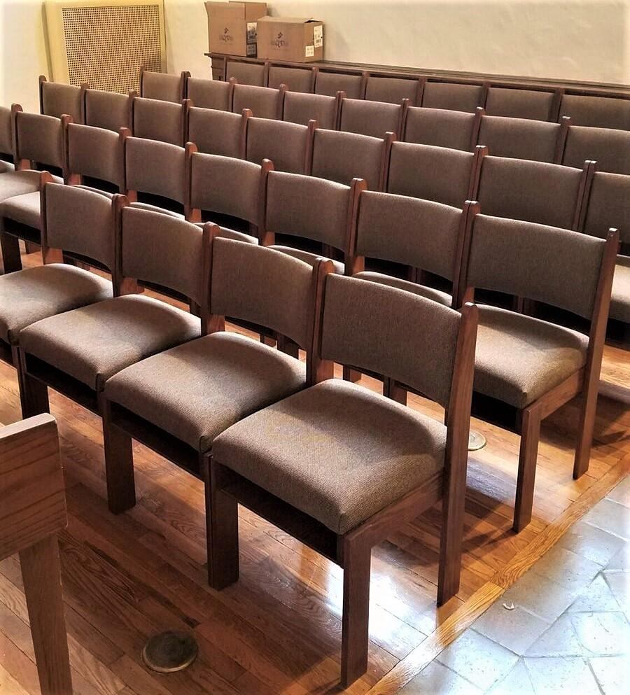 church chairs, chapel chairs, stacking wood chairs, church seating
