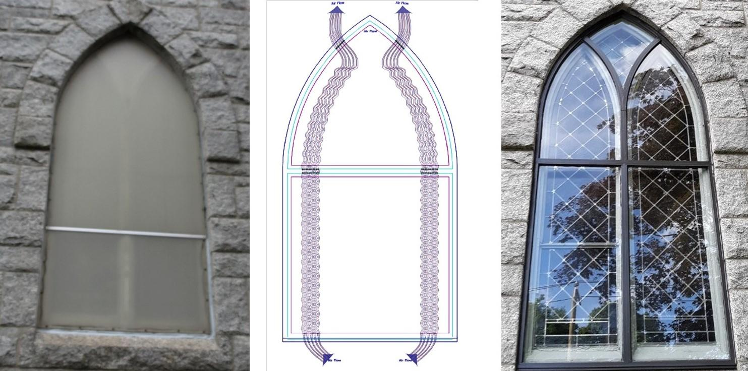 St Edwards Before and After with venting diagram