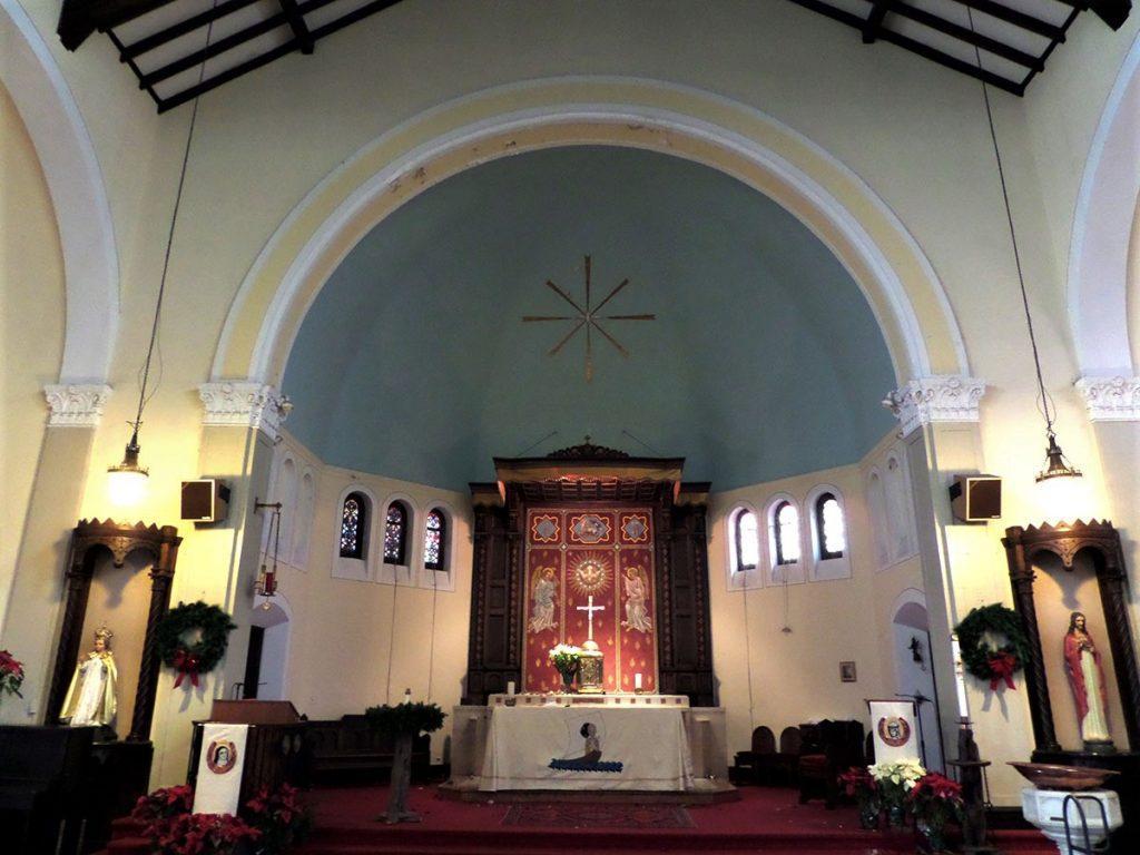 church renovation, church painting, faux marble painting, plaster repair