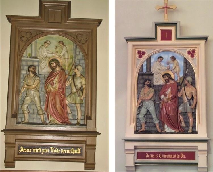stations of the cross, stations of the cross repair, stations of the cross painting