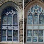 church stained glass windows, stained glass window frames, stained glass protective glass, New London CT