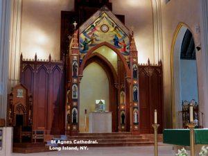 architectural millwork, custom woodwork, baldichino, reredos, Brooklyn NY