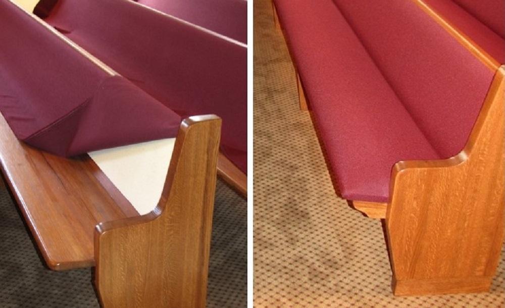 Add cushions to wood pews 1000