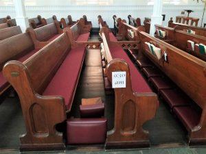 cushions for church pews, pew cushions, church pew cushions, Amsterdam NY