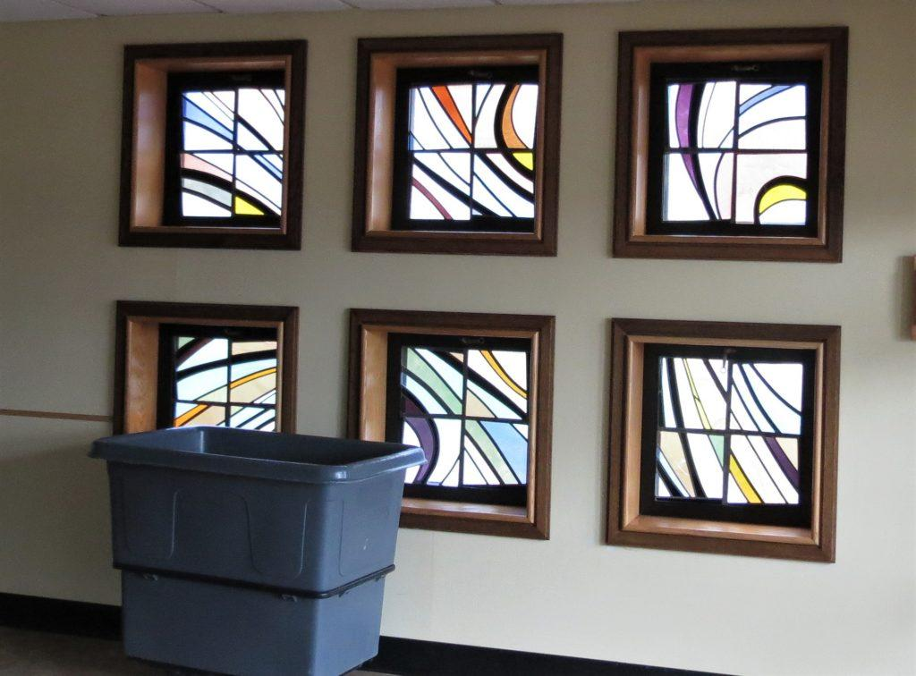 new stained glass design, new stained glass, stained glass studio, replacement stained glass window frames.